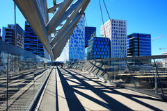 Akrobaten pedestrian bridge in Oslo, Norway Royalty Free Stock Images