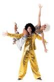 akrobater två barn Royaltyfria Foton
