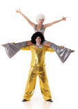 akrobater två barn royaltyfri bild