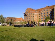 Akrobatik im Freien Stockbilder