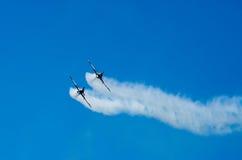 Akrobatische Flugzeuge Stockfoto
