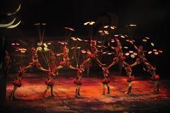 Akrobatisk show - Chaoyang teater, Peking royaltyfri foto