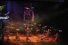 Akrobatisk show - Chaoyang teater, Peking Arkivbild