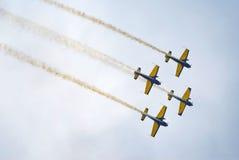 Akrobatiskt flyg Arkivfoton