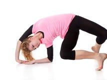 akrobatkvinna Royaltyfria Bilder
