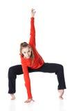 akrobatkvinna Royaltyfri Foto