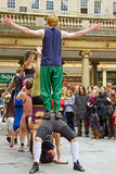 akrobatskådespelartrupp Arkivbilder