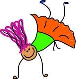 akrobatunge royaltyfri illustrationer