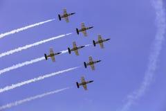 Akrobatyczna drużynowa Breitling strumienia drużyna Zdjęcia Royalty Free