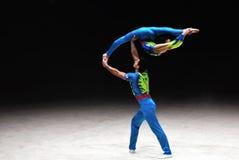 Akrobatyczne gimnastyki Zdjęcie Royalty Free