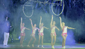Akrobatyczny Tancerz zdjęcie royalty free