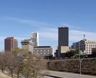 Akron. A view of the skyline of Akron, Ohio Stock Photography