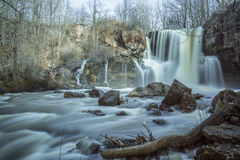 Akron Falls. On a gloomy day Royalty Free Stock Image