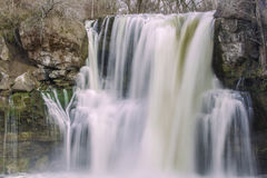 Akron Falls. Akron waterfall on cloudy day Royalty Free Stock Photography