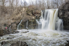 Akron Falls. Akron waterfall on cloudy day Royalty Free Stock Photo