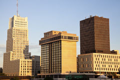 Akron, Ohio. Afternoon skyline of the city Stock Images
