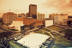 Akron panorama. City of Akron panorama - taken with tobacco filter Royalty Free Stock Images