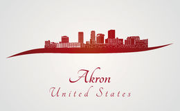 Akron skyline  Royalty Free Stock Photo
