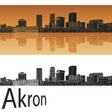 Akron skyline Stock Photo