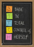 akronimu dziwki blackboard humorystyczny Zdjęcia Royalty Free