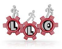 Akronym-Leute-gehende Gänge LLC Limited Liability Corporation Stockfotografie