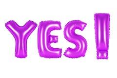 Akronym und Abkürzung ja purpurrote Farbe Lizenzfreie Stockbilder