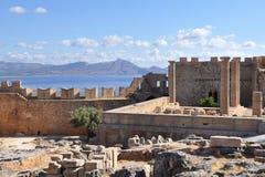akropolów lindos obraz stock