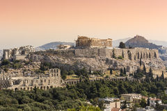 Akropol Aten, Grekland Arkivbilder