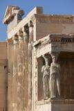 akropol Athens Stara świątynia Athena Polios i Erechthei Obrazy Royalty Free