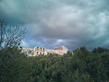 Akropol av athens en av de 7 underna av världen arkivfoton