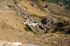 Akropol av Pergamon Royaltyfri Fotografi