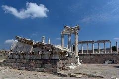 Akropol av Pergamonen Arkivfoto