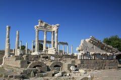 Akropol em Bergama Fotos de Stock