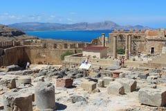 Akropol Lindos, Rhodes fotografia royalty free