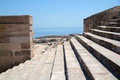 Akropol na wyspie Lindos Fotografia Royalty Free