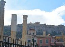 Akropol od oczu kolumny zdjęcie royalty free