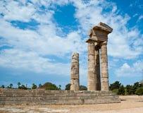 Akropol rhodes Arkivbild