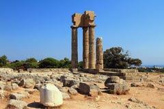 Akropol ruiny w Rhodes, Grecja Zdjęcia Royalty Free