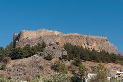 Akropol w Lindos Obrazy Royalty Free