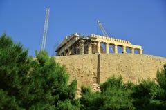 AkropolAten Grekland fotografering för bildbyråer