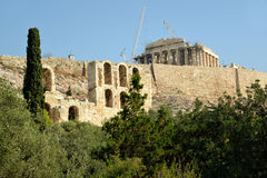 AkropolAten Grekland arkivbilder