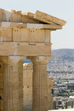 Akropolis-Ansicht Atenas Griechenland Lizenzfreie Stockfotos