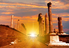 Akropolis antique city, Pergamon (Bergama) Stock Photography