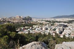 Akropolis a Atene Grecia Fotografie Stock