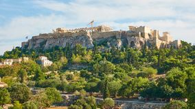 Akropolis in Athen stock video footage