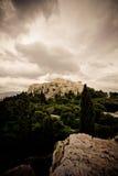 Akropolis in Athen stockbilder
