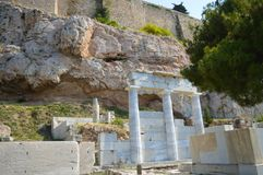 Akropolis in Athen, Griechenland am 16. Juni 2017 Lizenzfreie Stockbilder