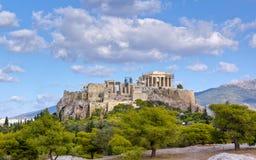 Akropolis, Athene Stock Afbeelding