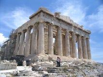 Akropolis, Athene royalty-vrije stock afbeelding