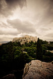 Akropolis in Athene Stock Afbeeldingen